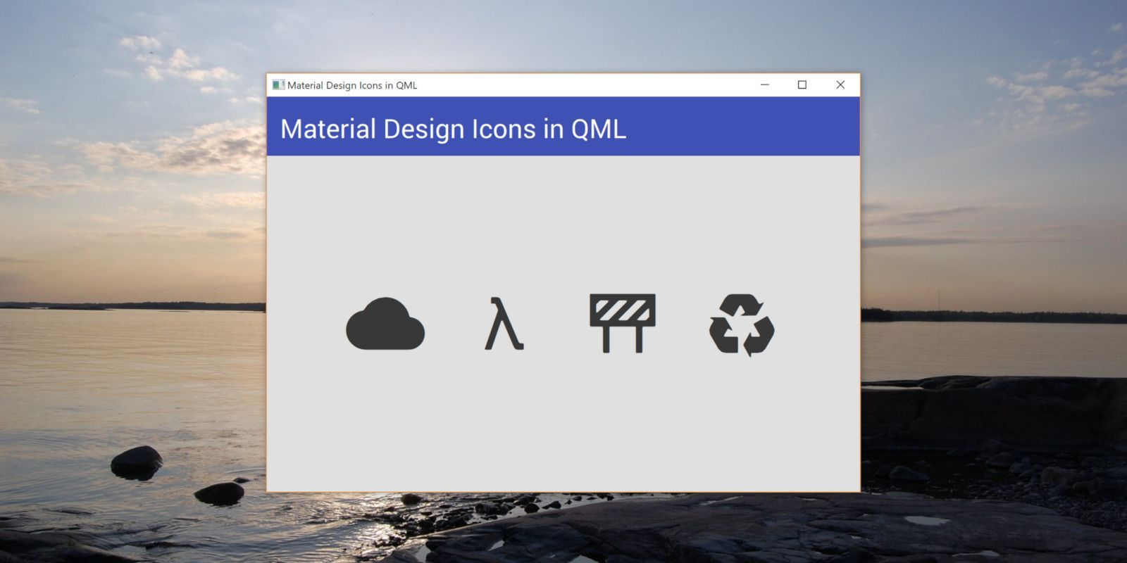 Using Material Design Icons in Qt Quick